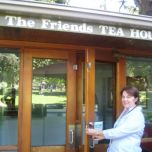 Jan Perry closing the Teahouse